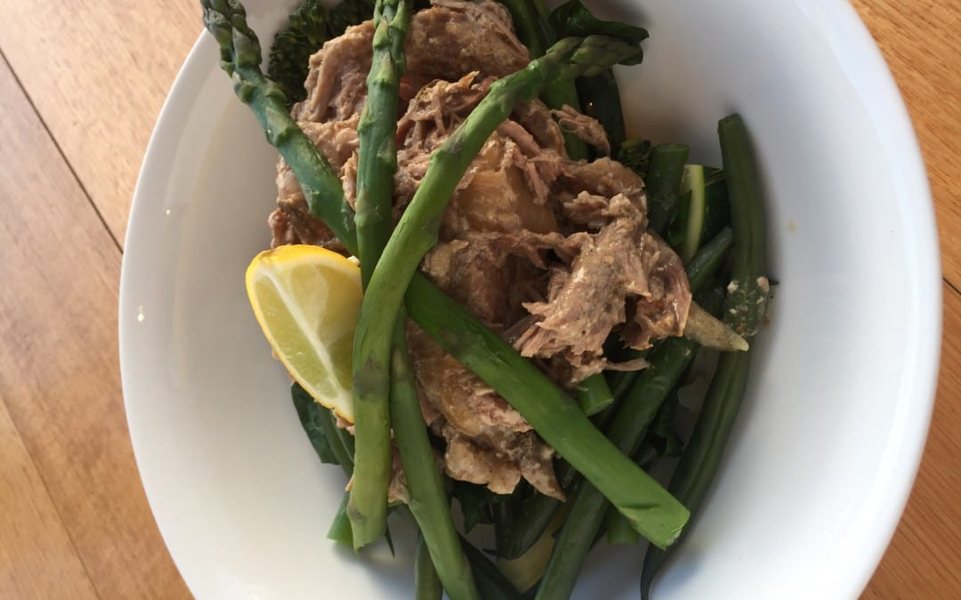 Slow cooked coconut ginger pork