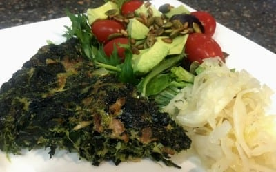 Dairy Free, Gluten Free, Spinach and Bacon Frittata