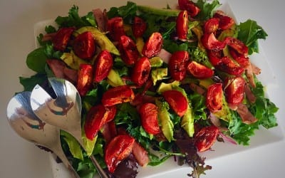 Bacon, tomato and avocado salad