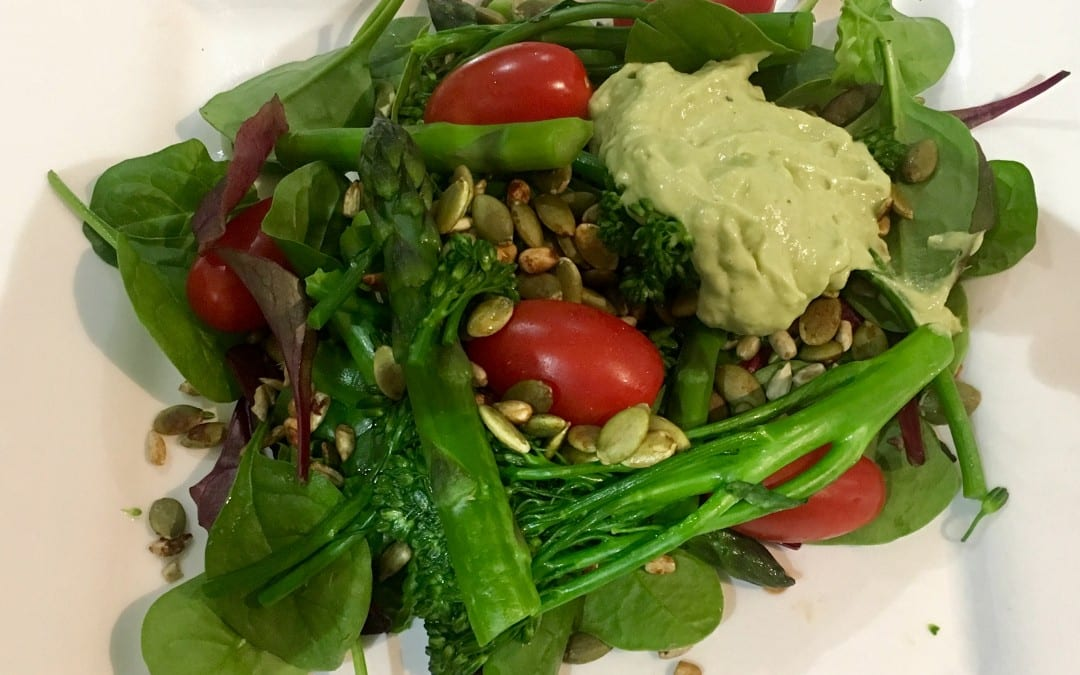 Asparagus and Broccolini Salad with Green Goodness Dressing