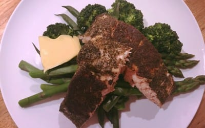 Green Tea Salmon and greens